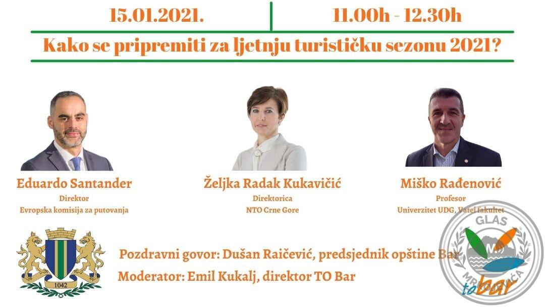 """Najava: Zoom panel diskusija: """"Kako se pripremiti za ljetnju turističku sezonu 2021"""""""